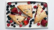 How to Make Mixed Berry Scones with Lemon-Ginger Glaze