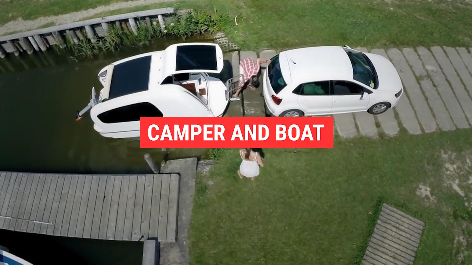 The Sealander is a camper that's also a boat