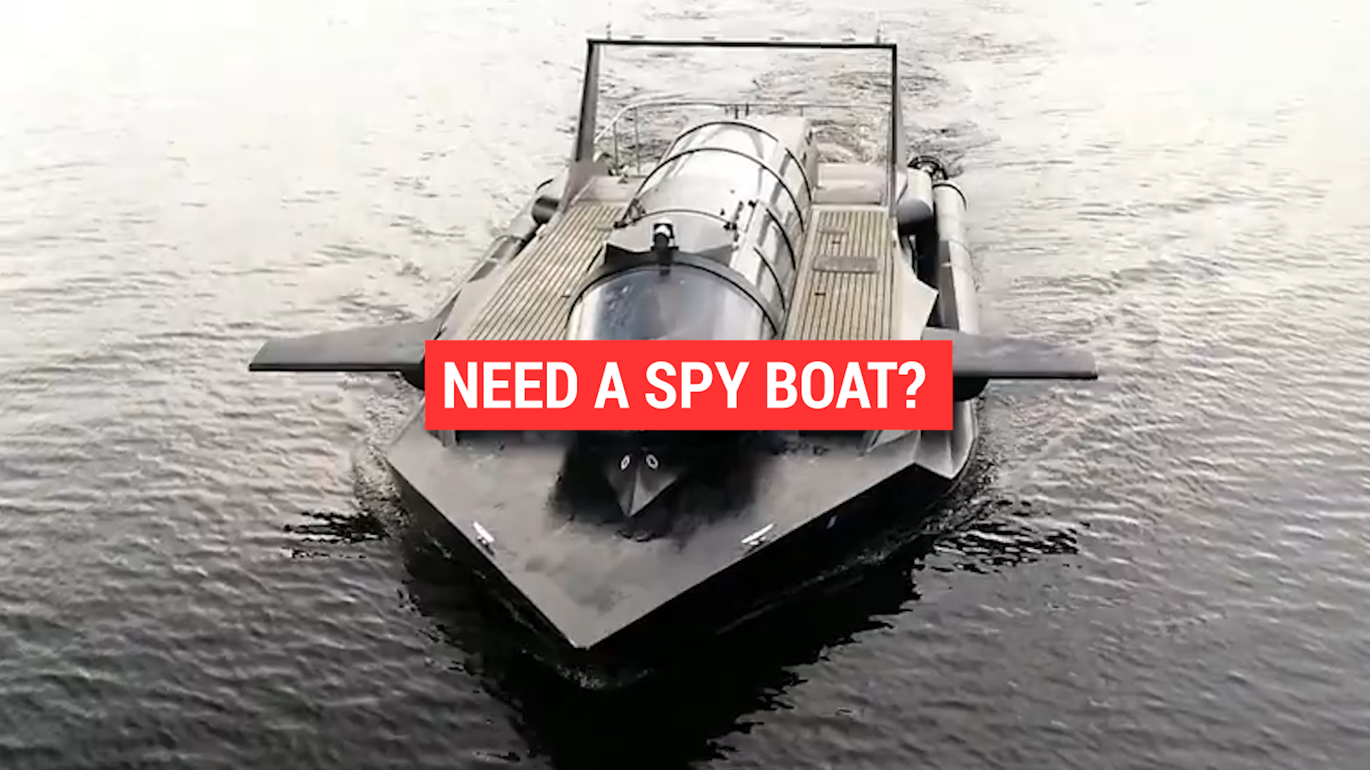 The speed boat that transforms into a submarine