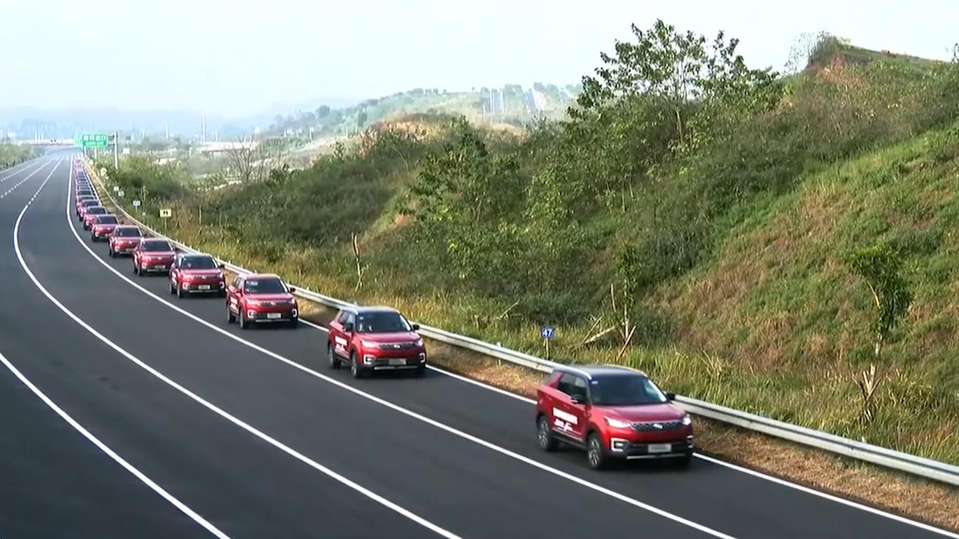 55 autonomous SUVs set a new world record