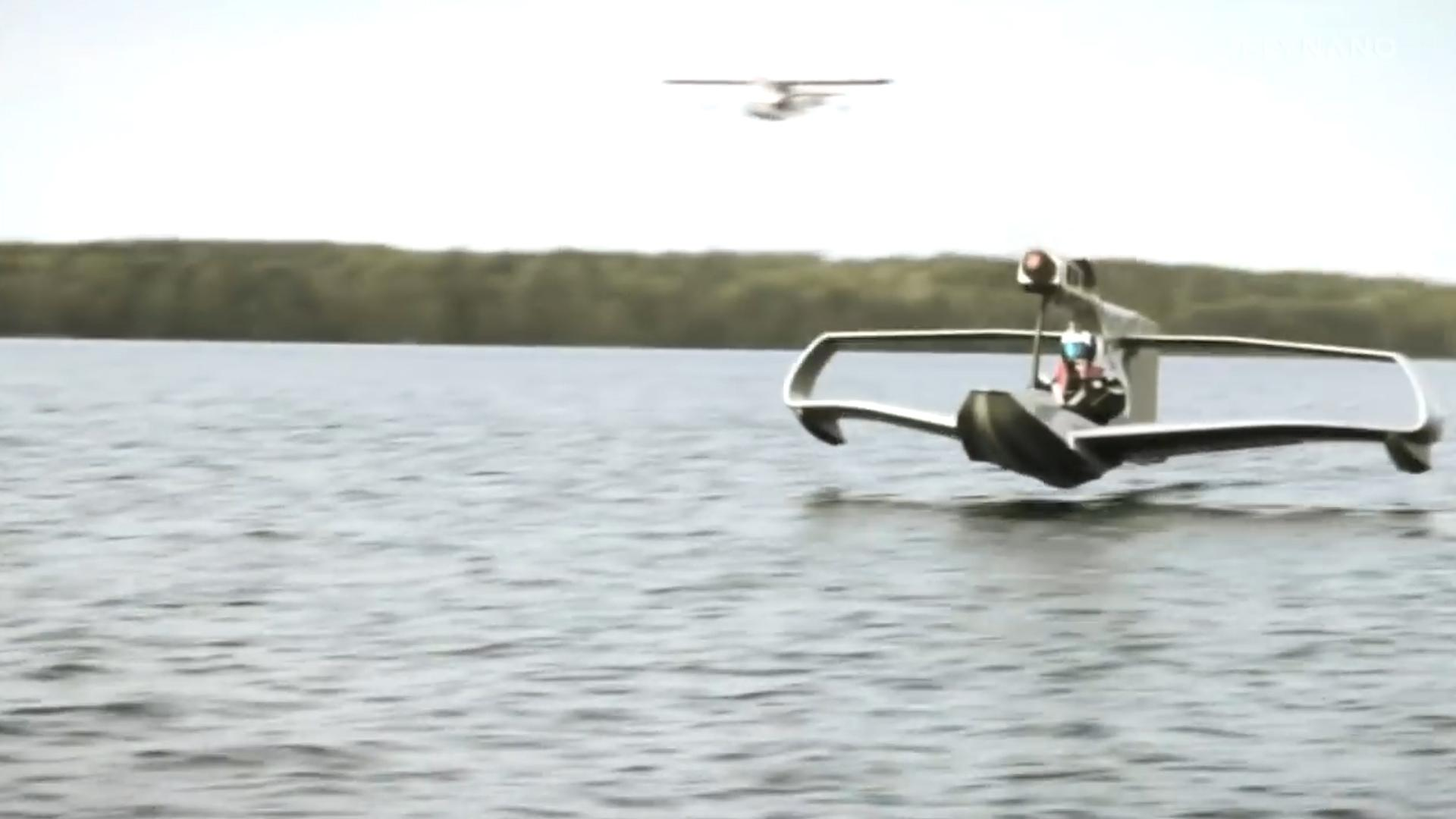 Flynano is part electric aircraft, part jet ski
