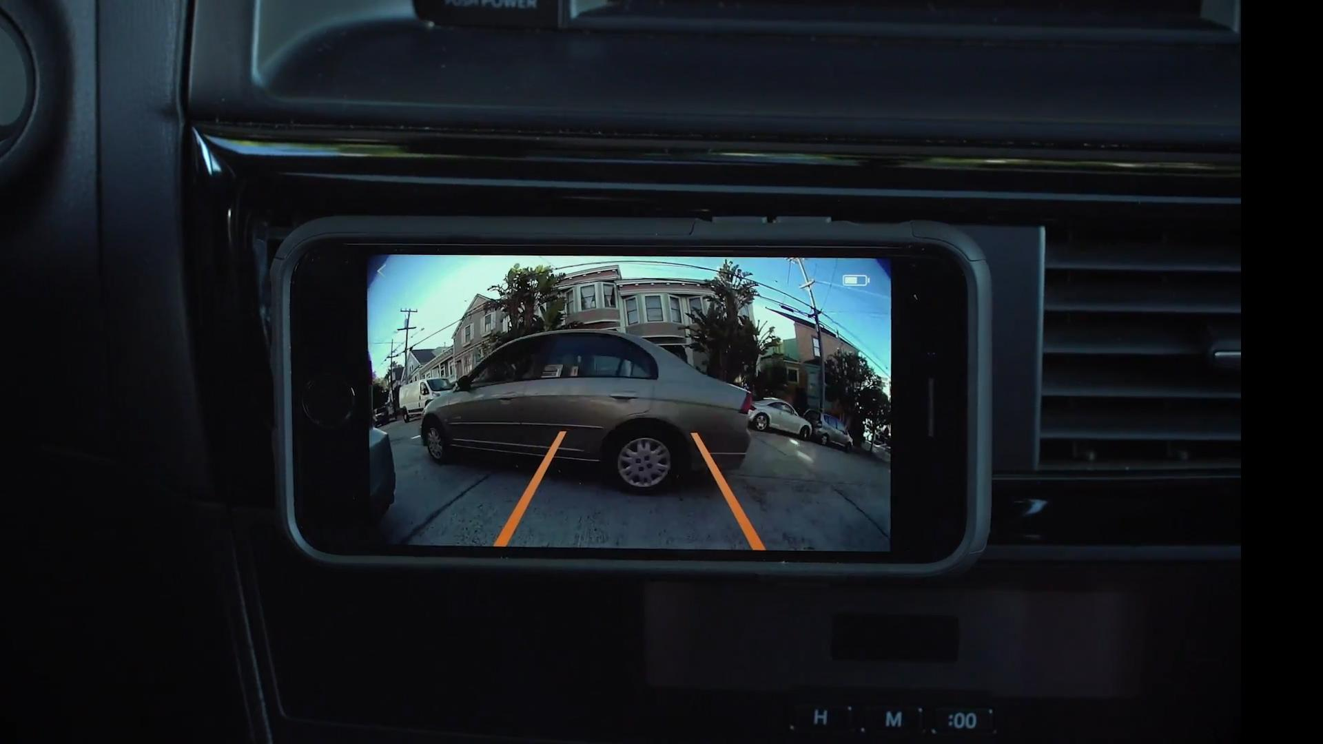 Turn your car?s license plate into a backup camera