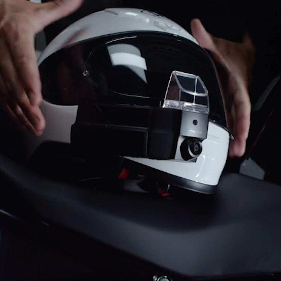 Upgrade your motorcycle helmet with a HUD