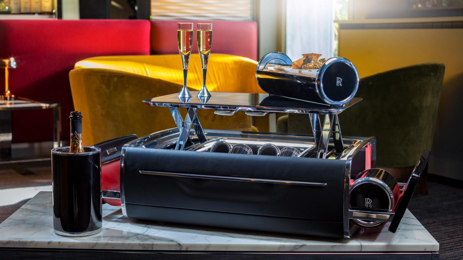 The Rolls-Royce champagne chest will hold your wine and make you poor