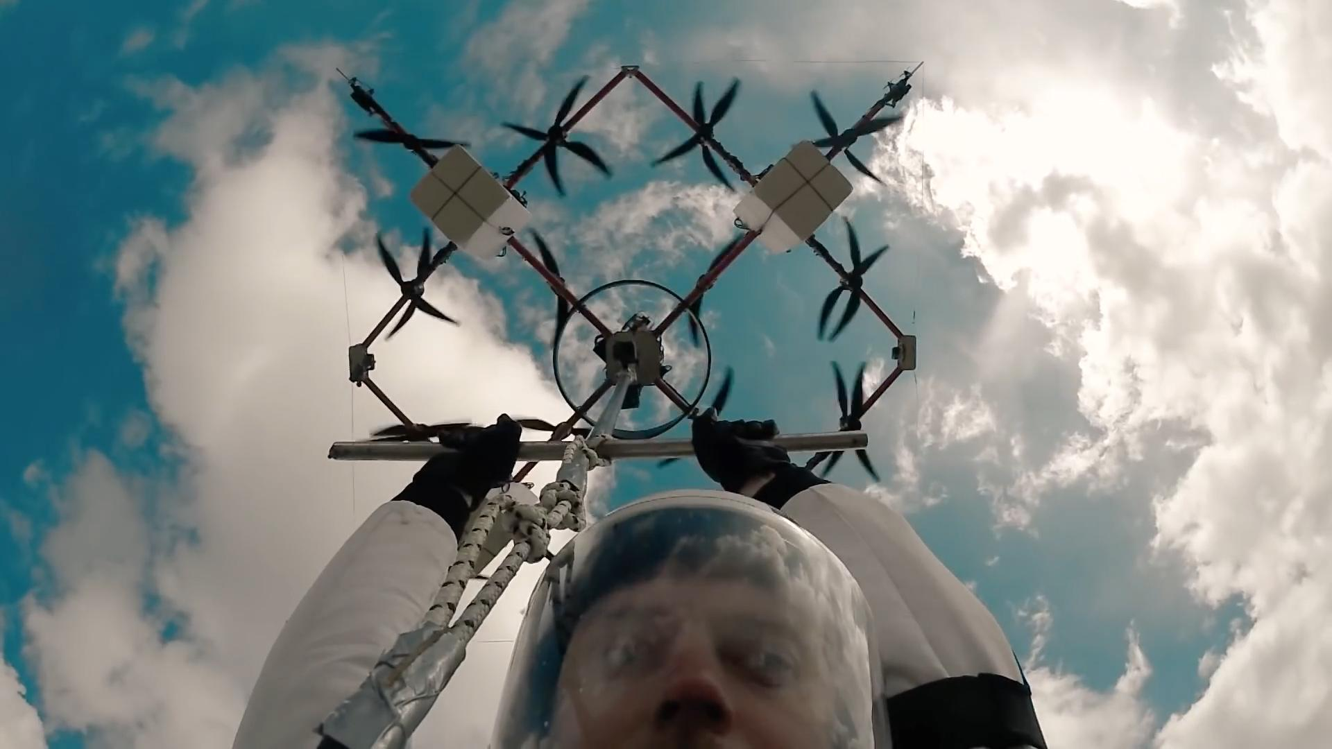 This rescue drone can carry a human