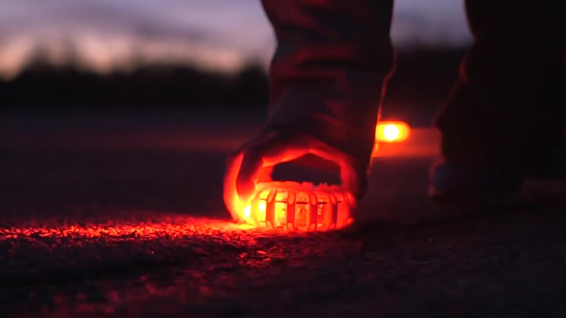 This rechargeable safety light doubles as a road flare