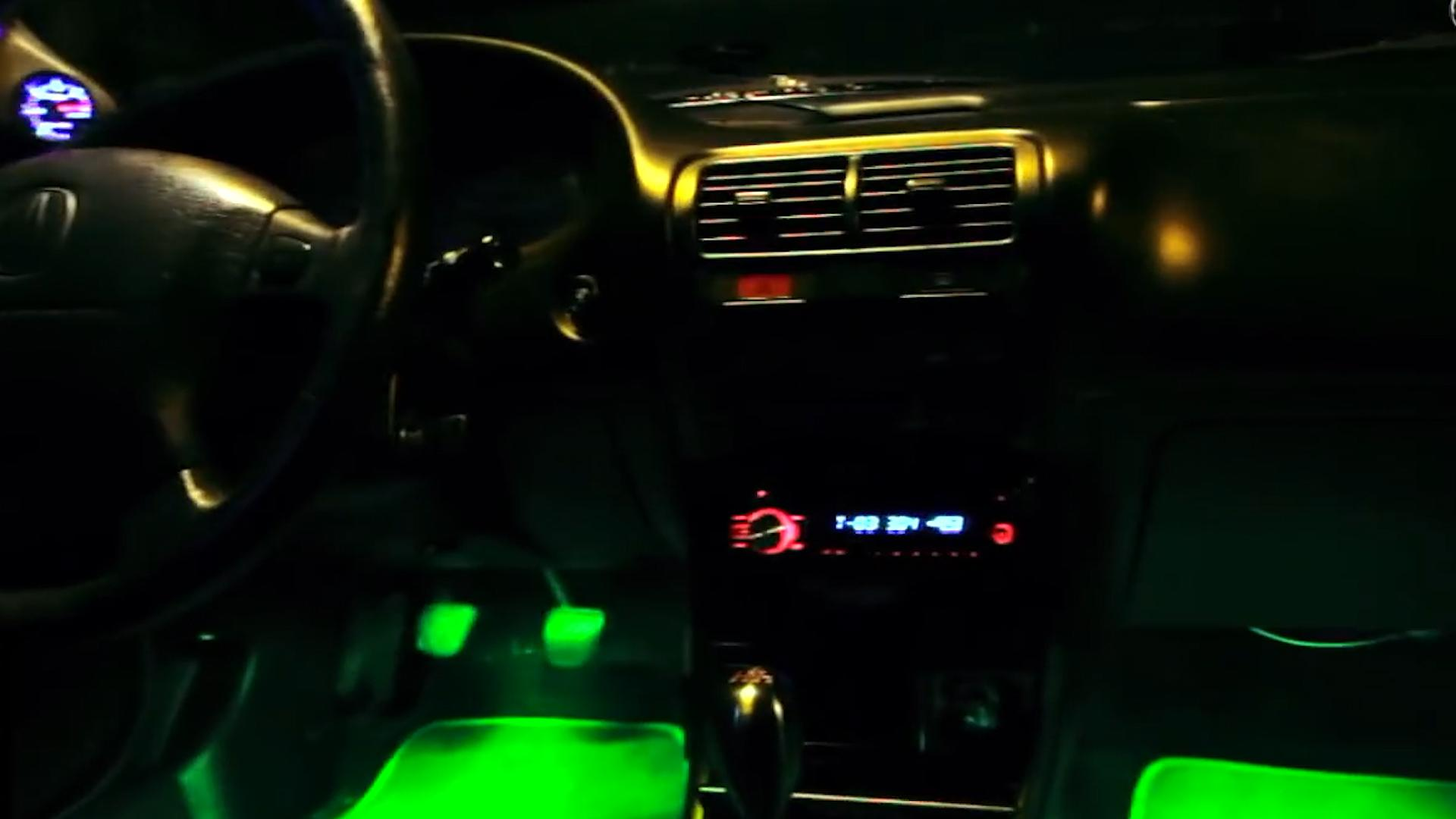 This LED accessory lets you light up the footwells in your car