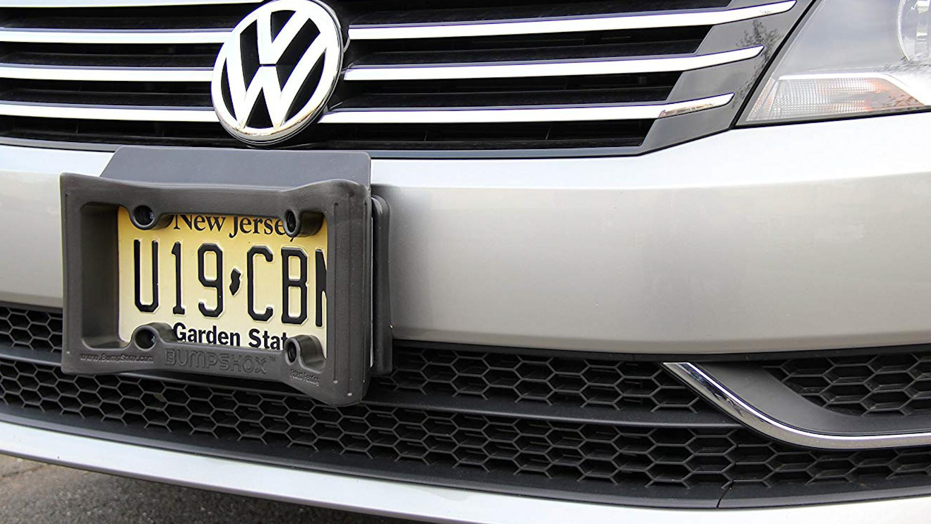 This bumper for your license plate could soften your next fender bender