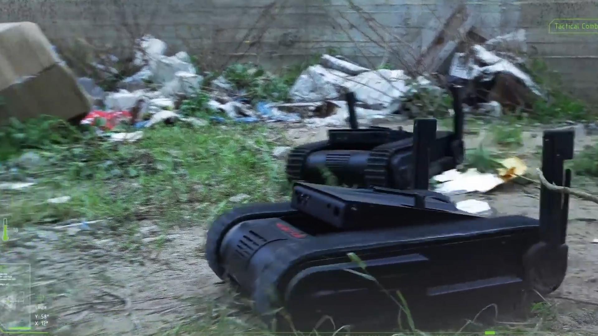 This tactical robot carries a Glock