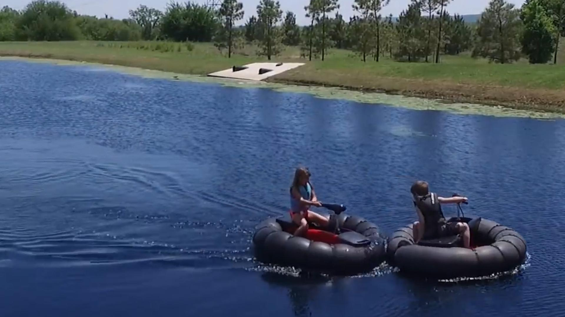 This personal watercraft is completely portable