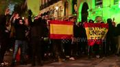 Police scuffle with Spanish nationalists in Madrid