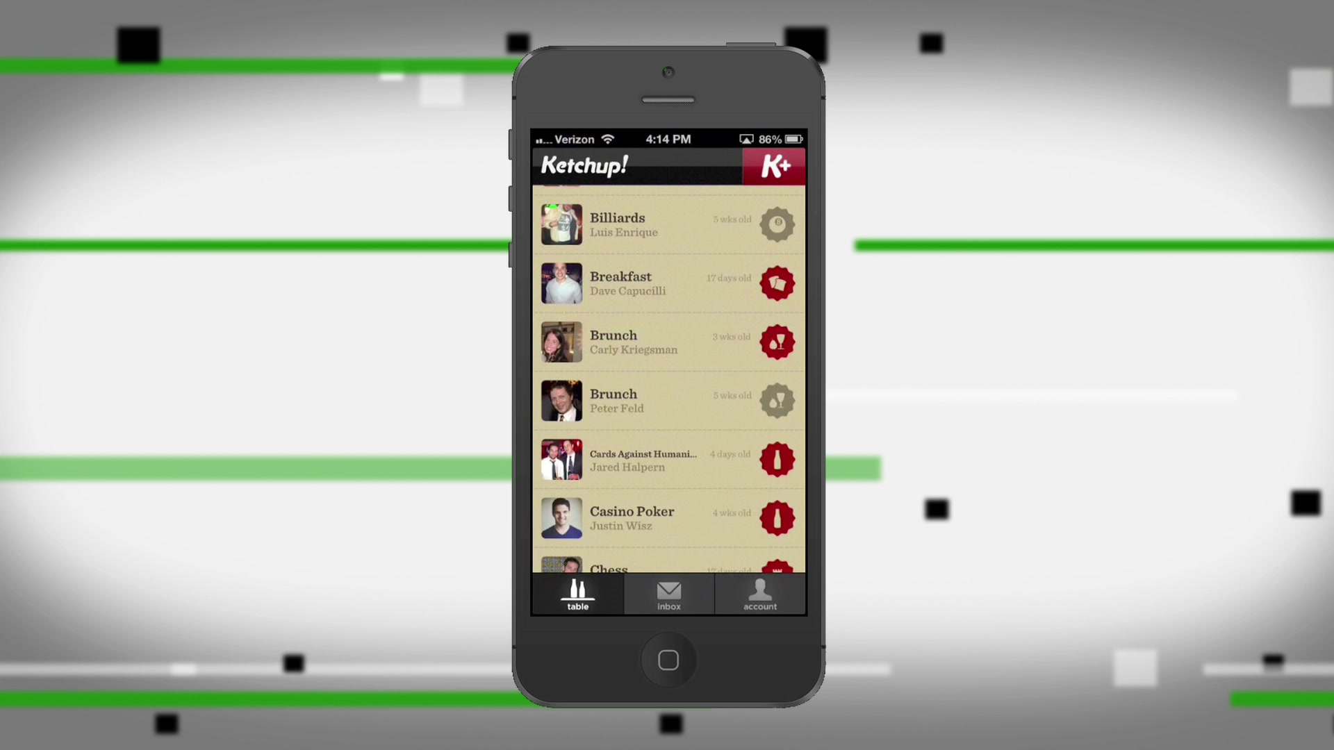 Ketchup Allows You To Track Your Social Plans