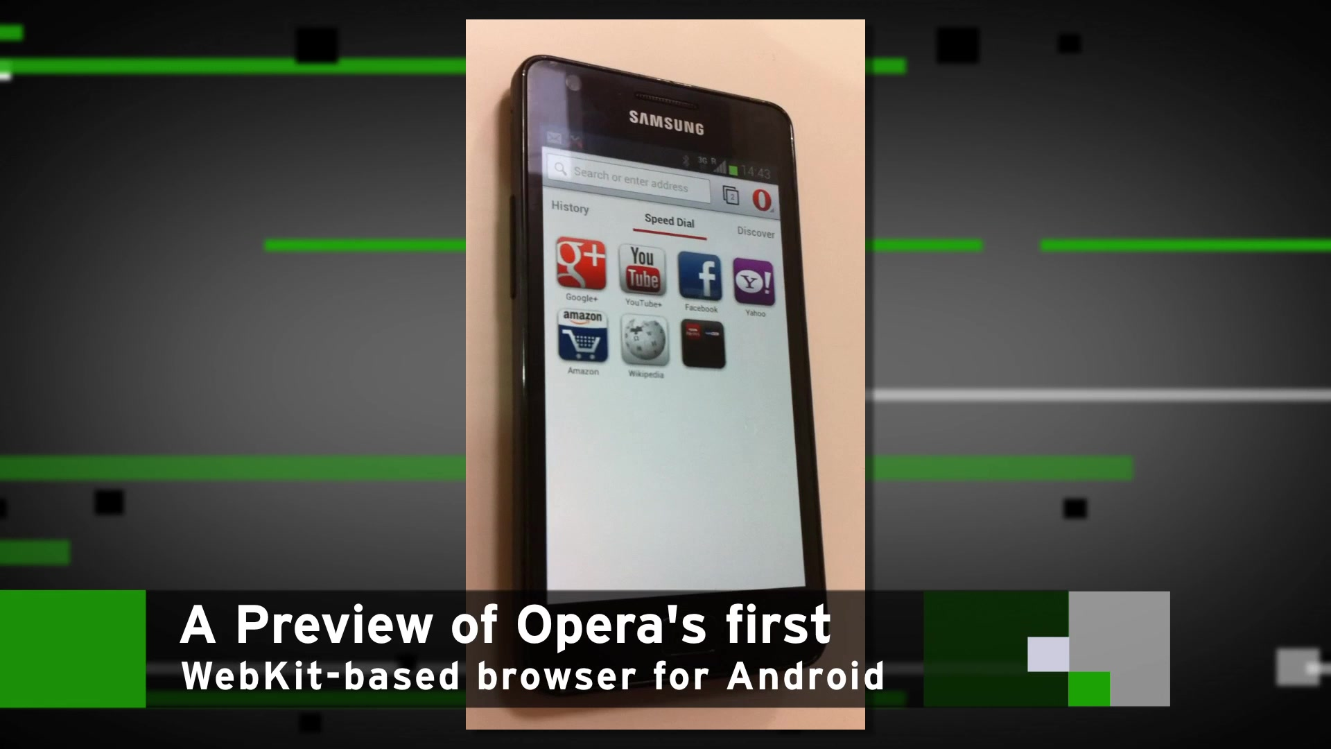 Preview of Opera's First WebKit-Based Browser For Android