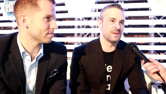Fab's Jason Goldberg and Bradford Shane at the 2012 London Web Summit