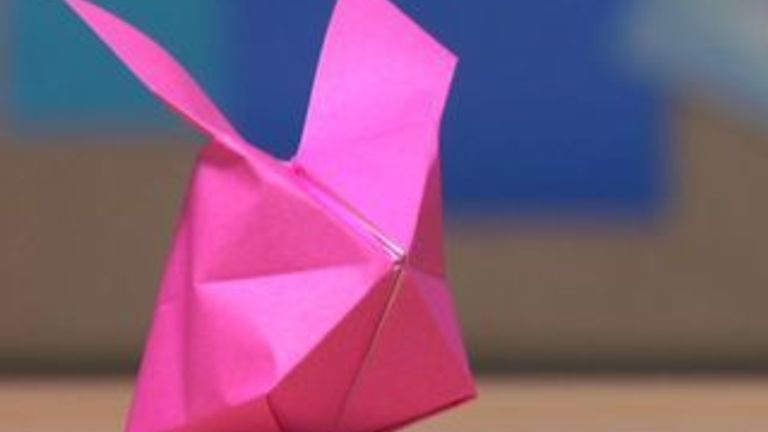 How to Make an Origami Inflatable Bunny
