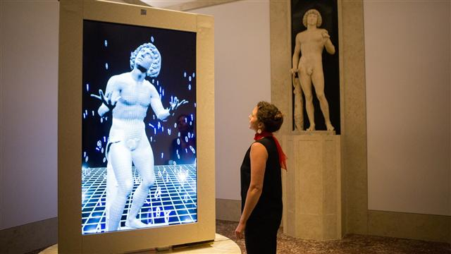 A Statue, Restored, Can Now Walk and Talk
