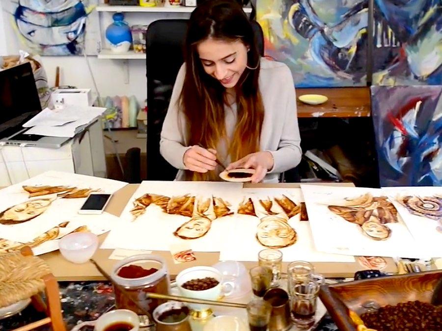 4 Artists Transform Coffee Spills Into Masterpieces