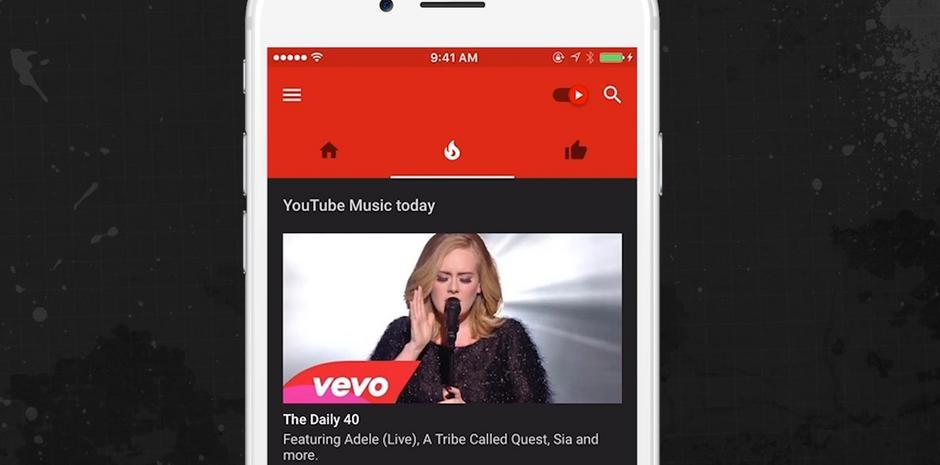 YouTube's New Music App