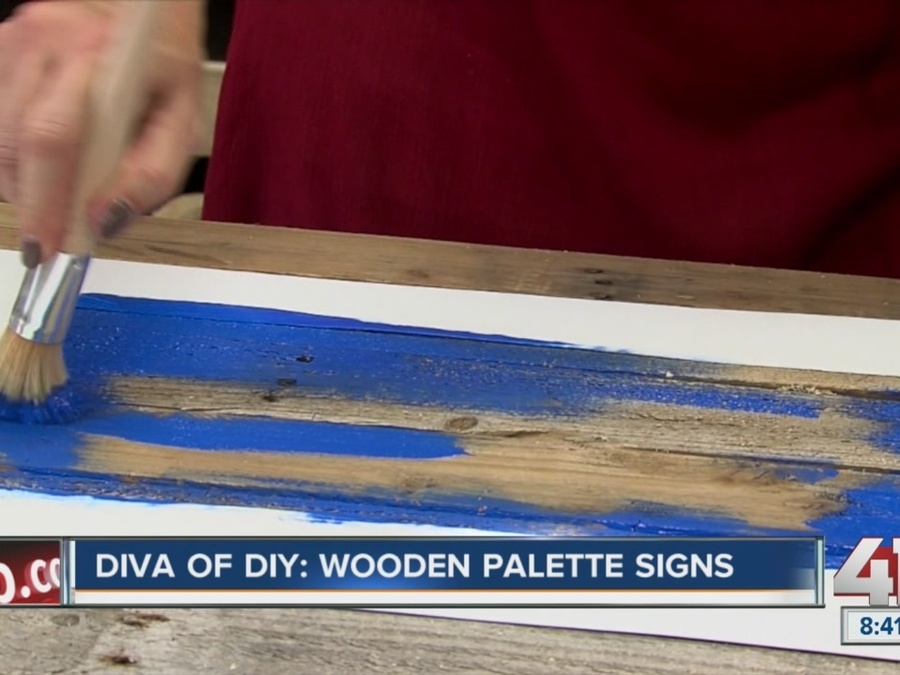 Diva of DIY: Turn Wood Pallets Into Unique, Rustic State Signs That Are Perfect for Holiday Gifts