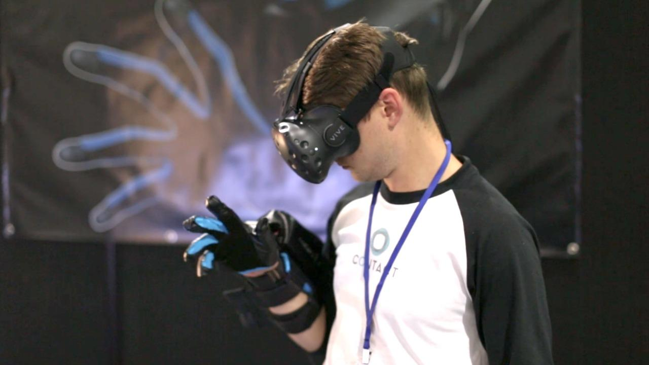 Contact CI demos haptic VR glove
