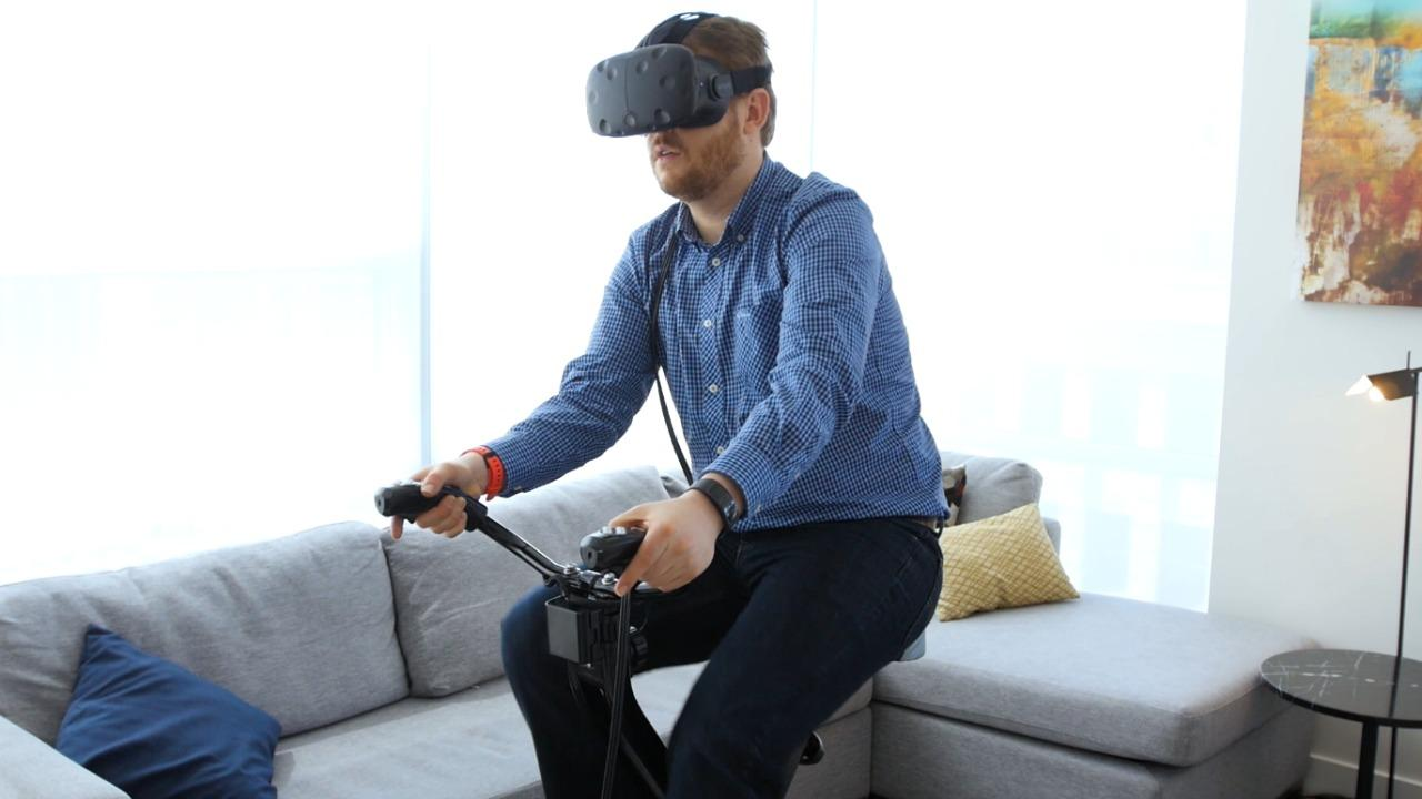 Exercise your way through VR with VirZOOM