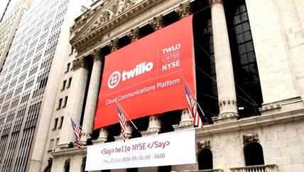 Twilio opens for trading on the NYSE