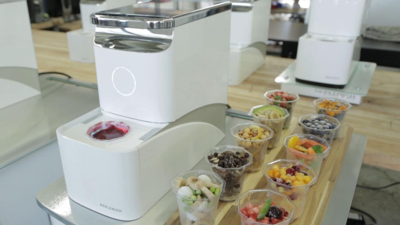 Replenish is a self-cleaning smoothie machine