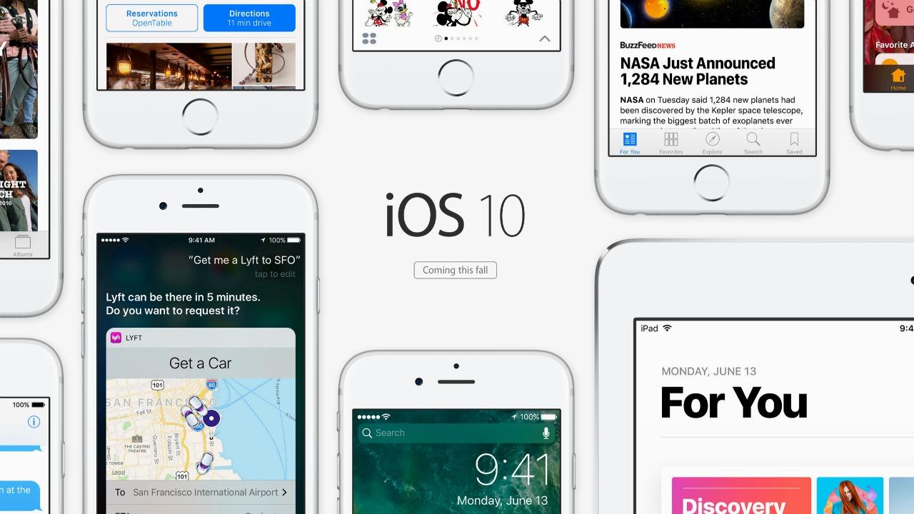 Apple's updated iOS 10 and watchOS 3
