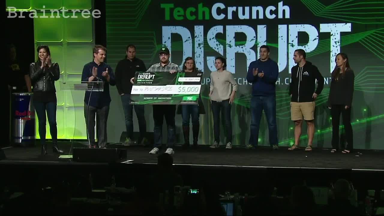 PointShop wins 1st place at #HackDisrupt!