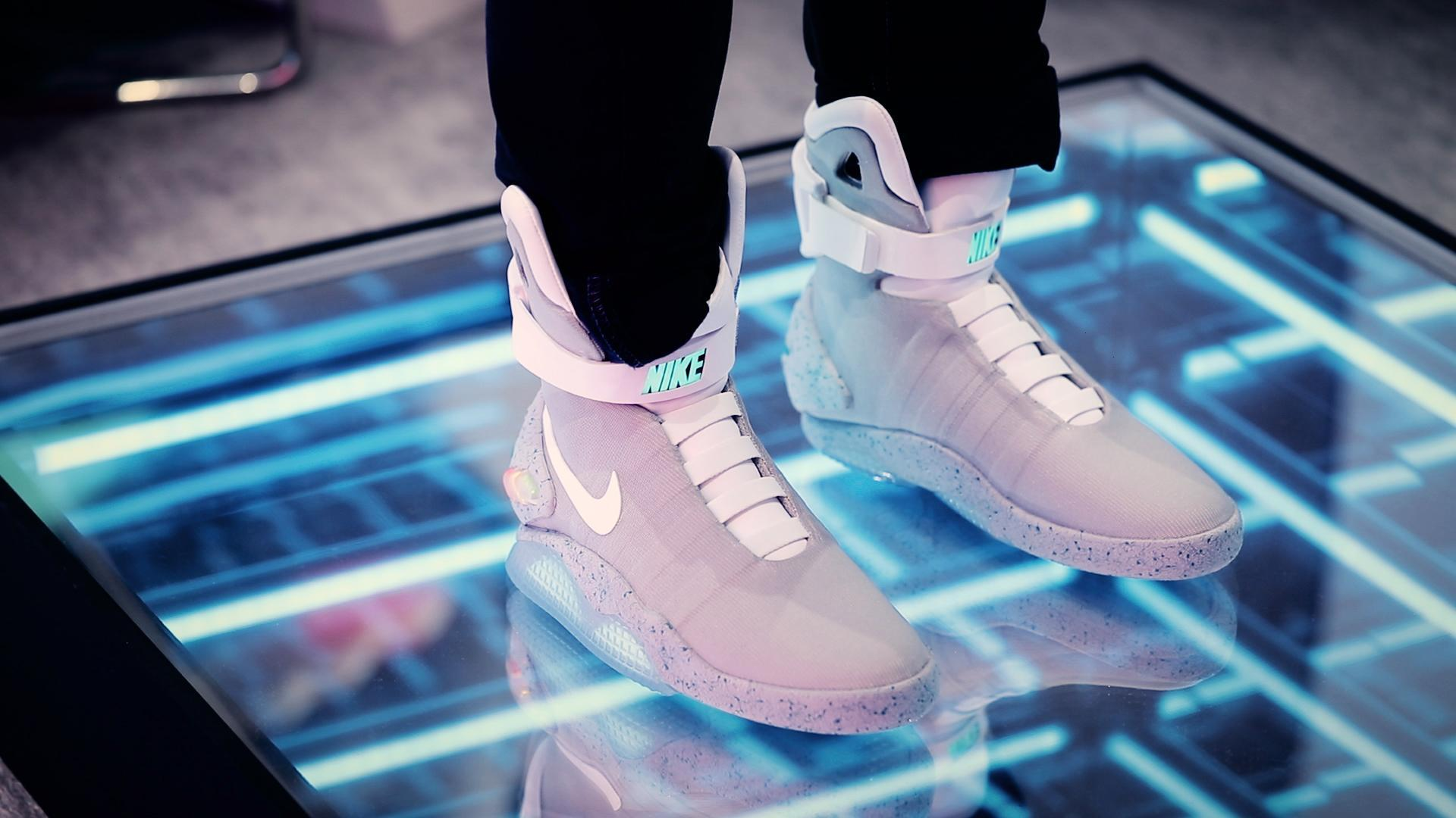 Nike shows off its new self-lacing Mags