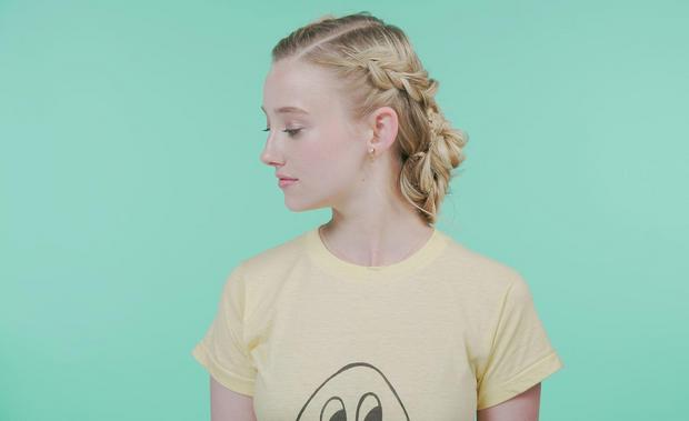 Watch How to Create the Coolest Criss-Cross Braid Bun