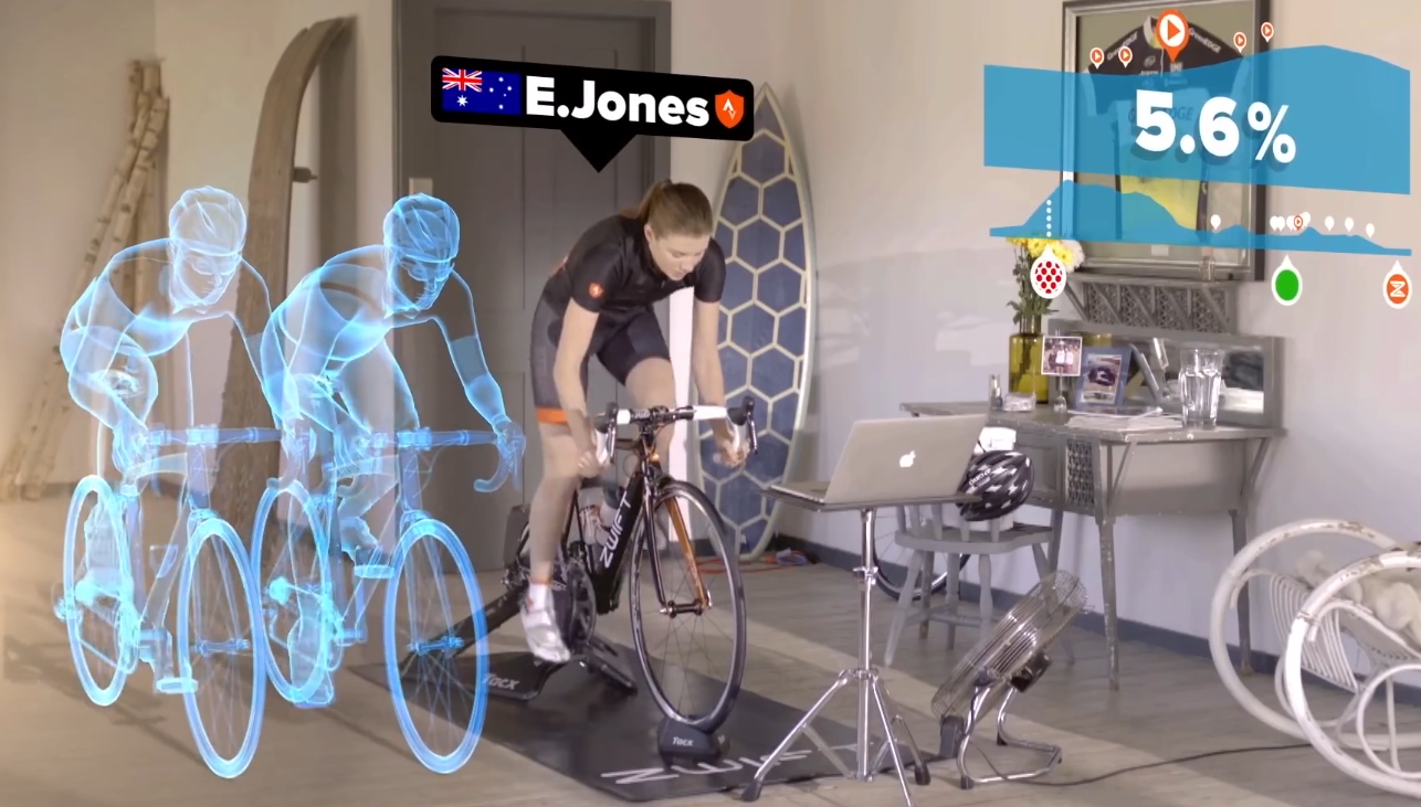 Zwift merges indoor fitness with massive multi-player online gaming