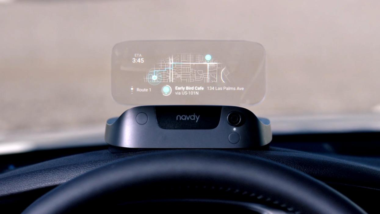 Navdy's heads-up display for any car windshield