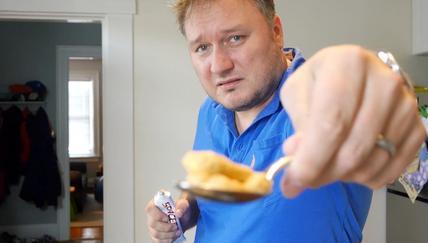 Doug eats Soviet space food