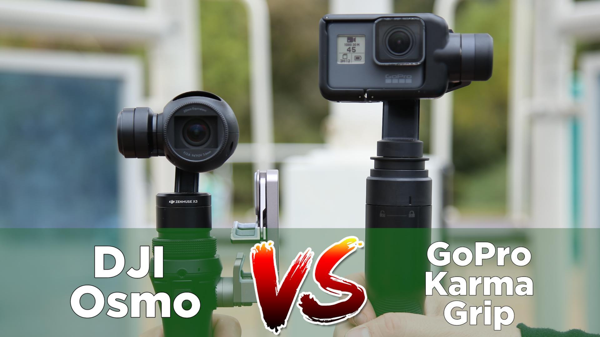 DJI Osmo VS. GoPro Karma Grip