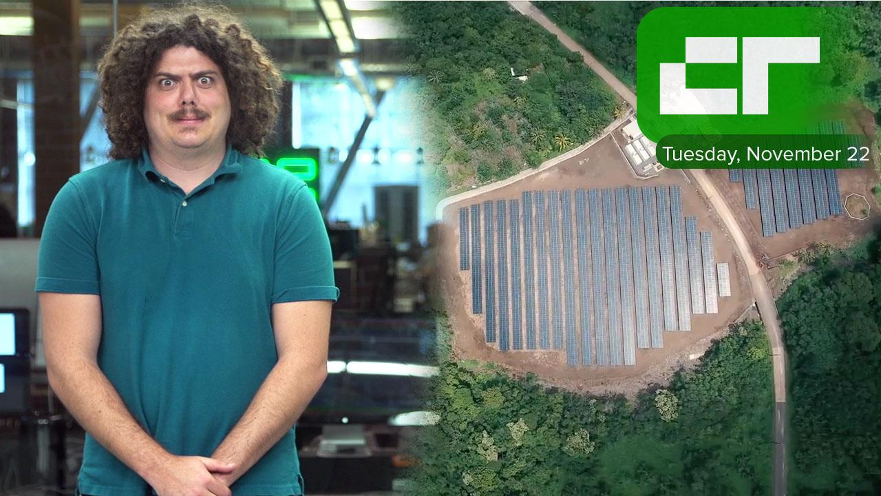 Tesla and SolarCity-powered Island   Crunch Report