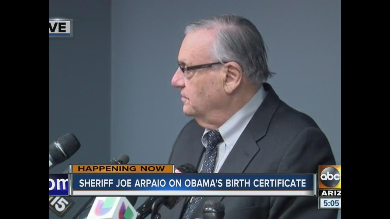 Obama birth certificate investigation sheriff arpaios office obama birth certificate investigation sheriff arpaios office says 9 points of forgery found abc15 arizona 1betcityfo Images