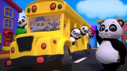 Baby Bao Panda | the wheels on the bus | nursery rhy...