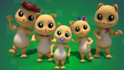 Cat Finger Family | nursery rhyme Farmees | kids son...