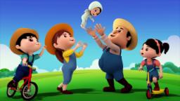 farmer finger family | nursery rhymes farmees | kids...