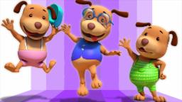 five little dogs | 3d rhymes | baby songs | nursery ...