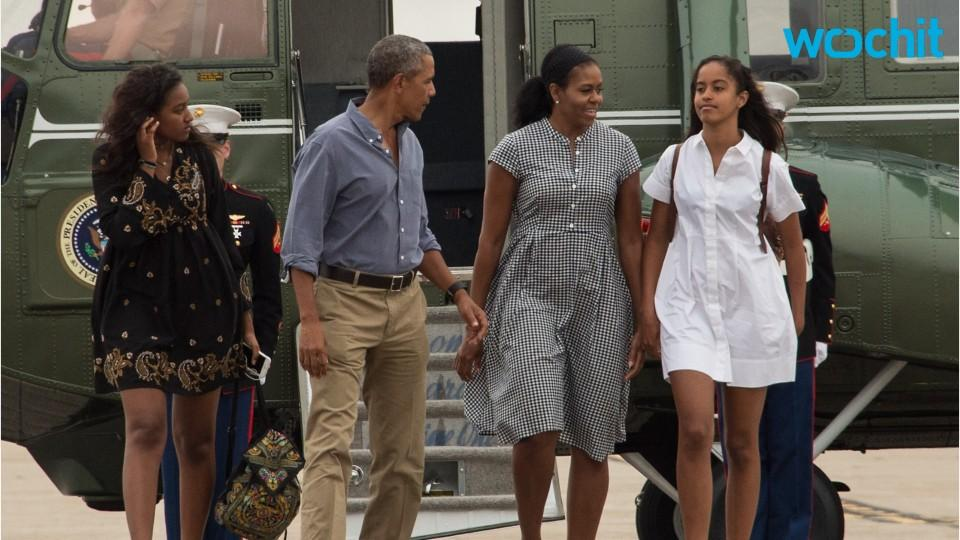 Malia Obama breaks into tears during her father's farewell ...
