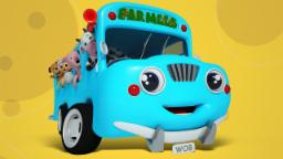 Wheels On The Bus | Nursery Rhymes For Kids With Far...