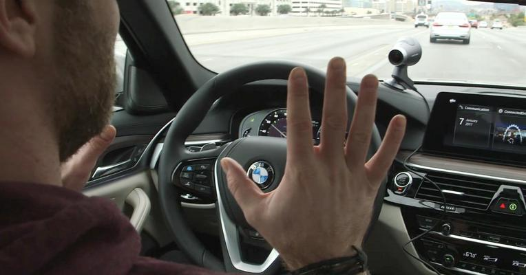 I drove BMW's prototype self-driving 5 series, and then it drove me