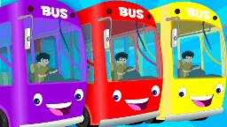 The Wheels On The Bus | English Nursery Rhymes For K...