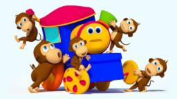 Bob The Train | Five Little Monkeys Jumping on the B...