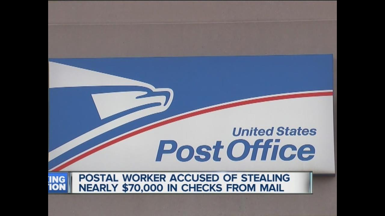 Postal carrier accused of stealing 69000 in checks from mail in postal carrier accused of stealing 69000 in checks from mail in macomb township wxyz buycottarizona