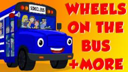 Wheels On The Bus | Finger Family | English nursery ...