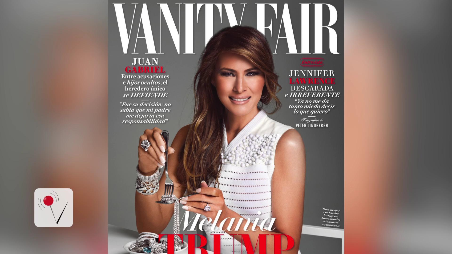 First lady Melania Trump turns heads 'eating' jewelry on the cover of ...