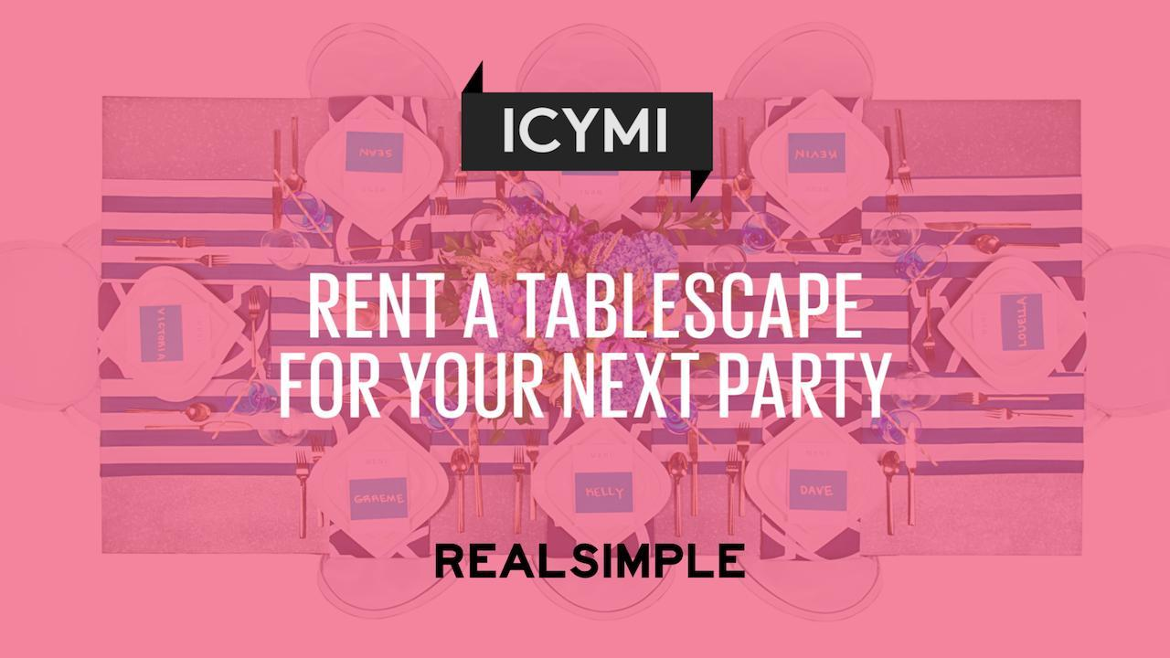 Rent a Tablescape for Your Next Party